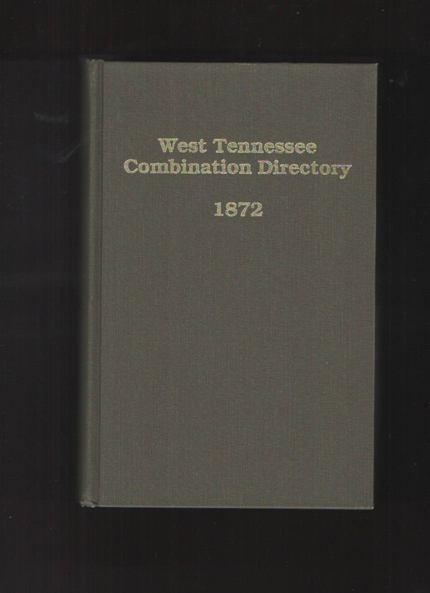 Image for West Tennessee Combination Directory 1872