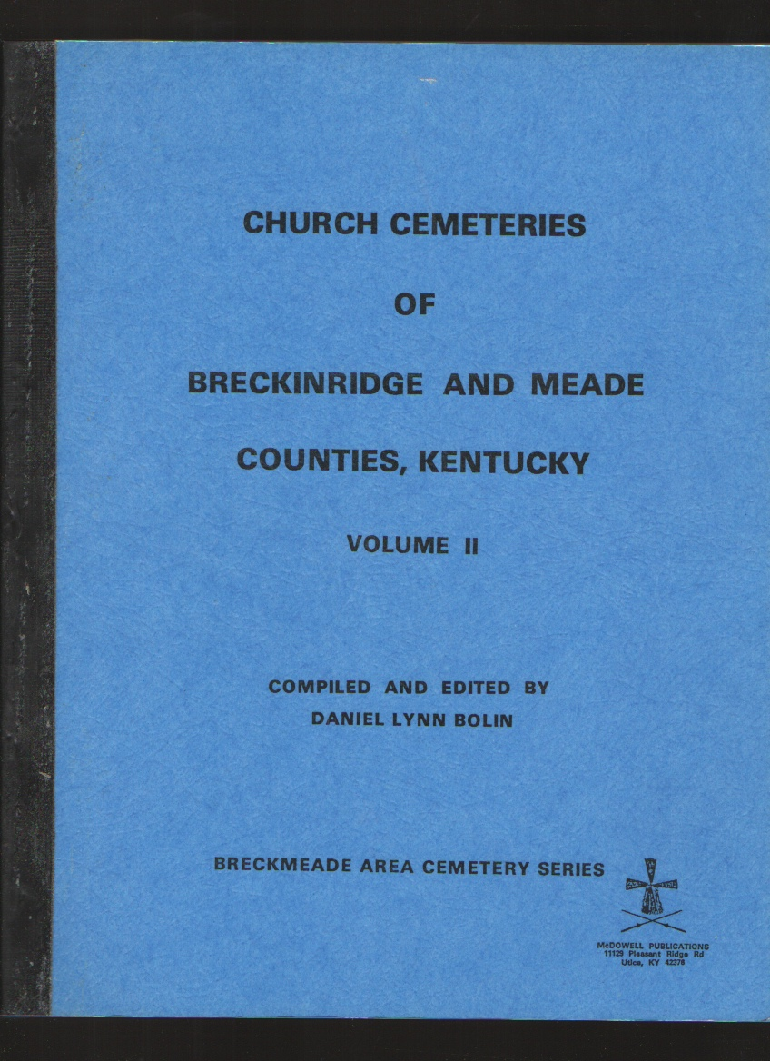 Image for Church Cemeteries of Breckinridge and Meade Counties, Kentucky, Vol. III