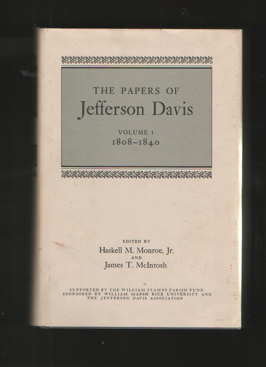 Image for The Papers of Jefferson Davis, Vol. 1, 1808 - 1840