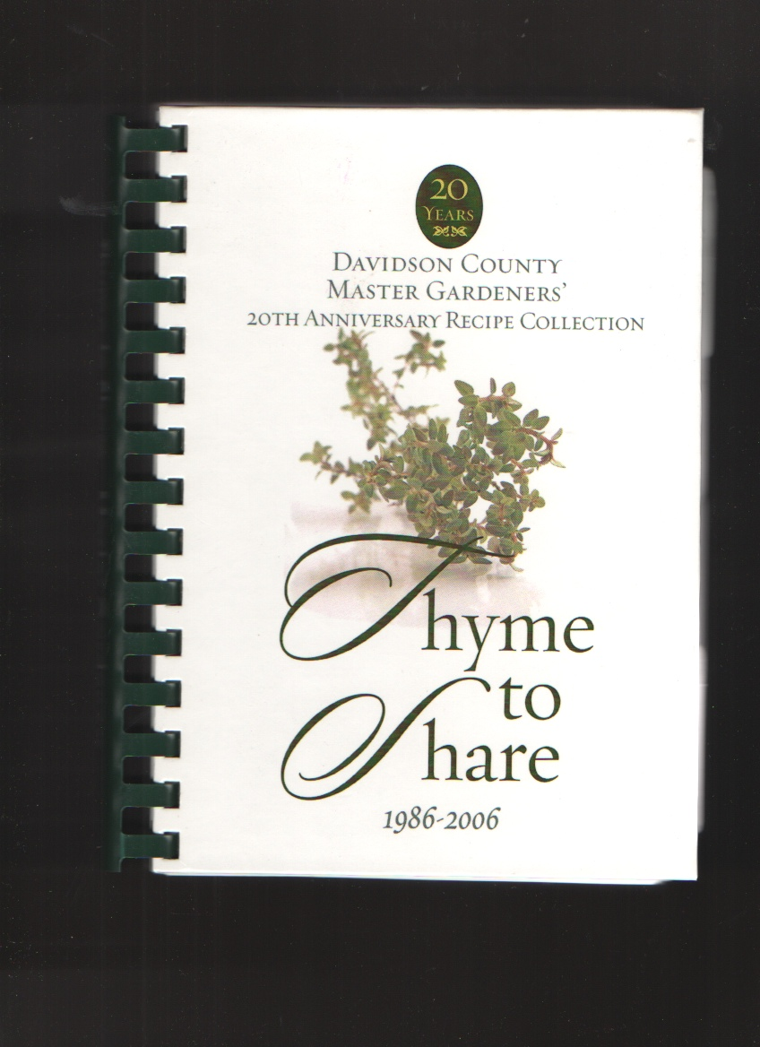Image for Thyme to Share, 1986-2006 20th Anniversary Recipe Collection