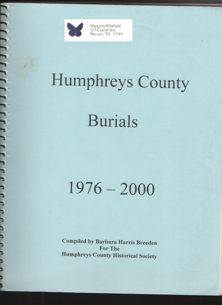 Image for Humphreys County (TN) Burials 1976-2000