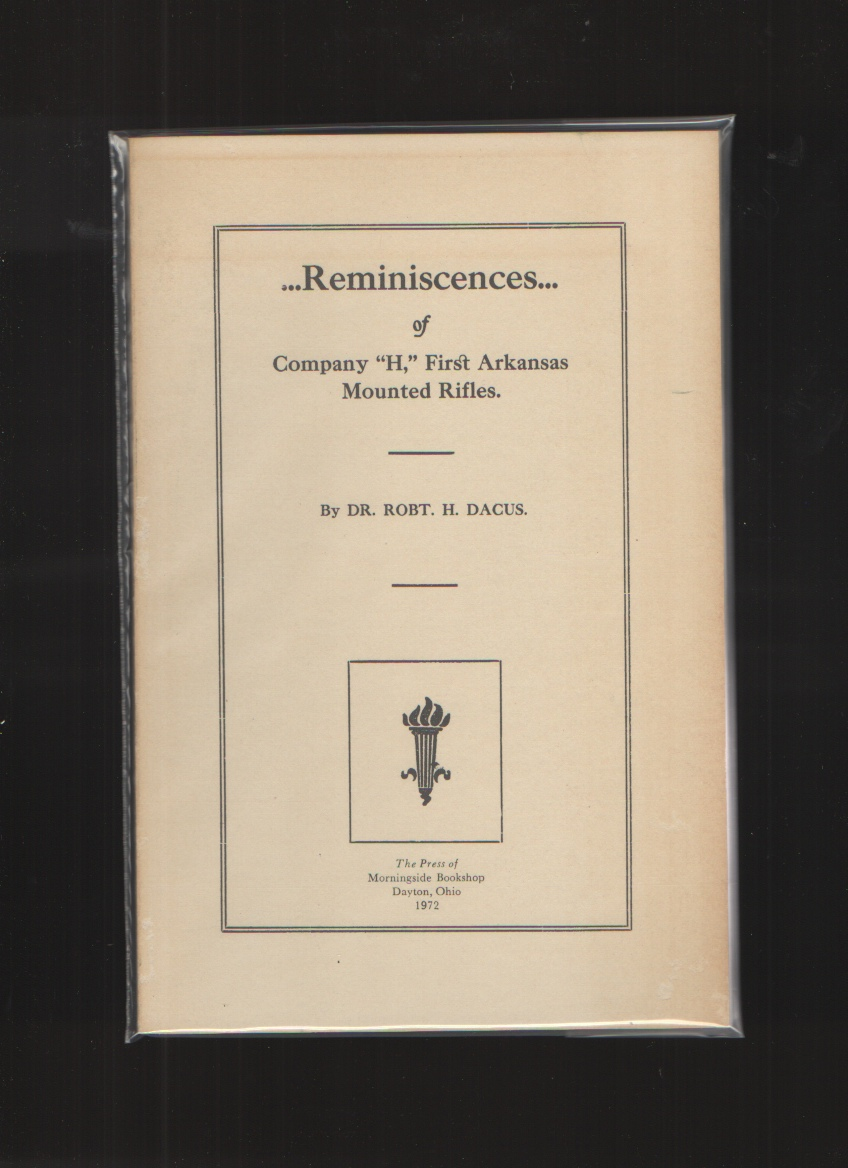 "Image for Reminiscences of Company ""H"", First Arkansas Mounted Rifles [Paperback]"