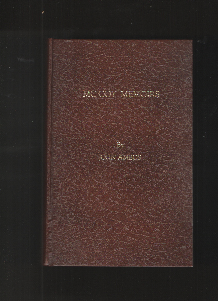 Image for MC COY MEMOIRS