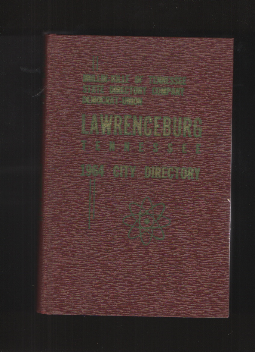Image for Lawrenceburg Tennessee, Con Survey City Directory 1964 Master Edition