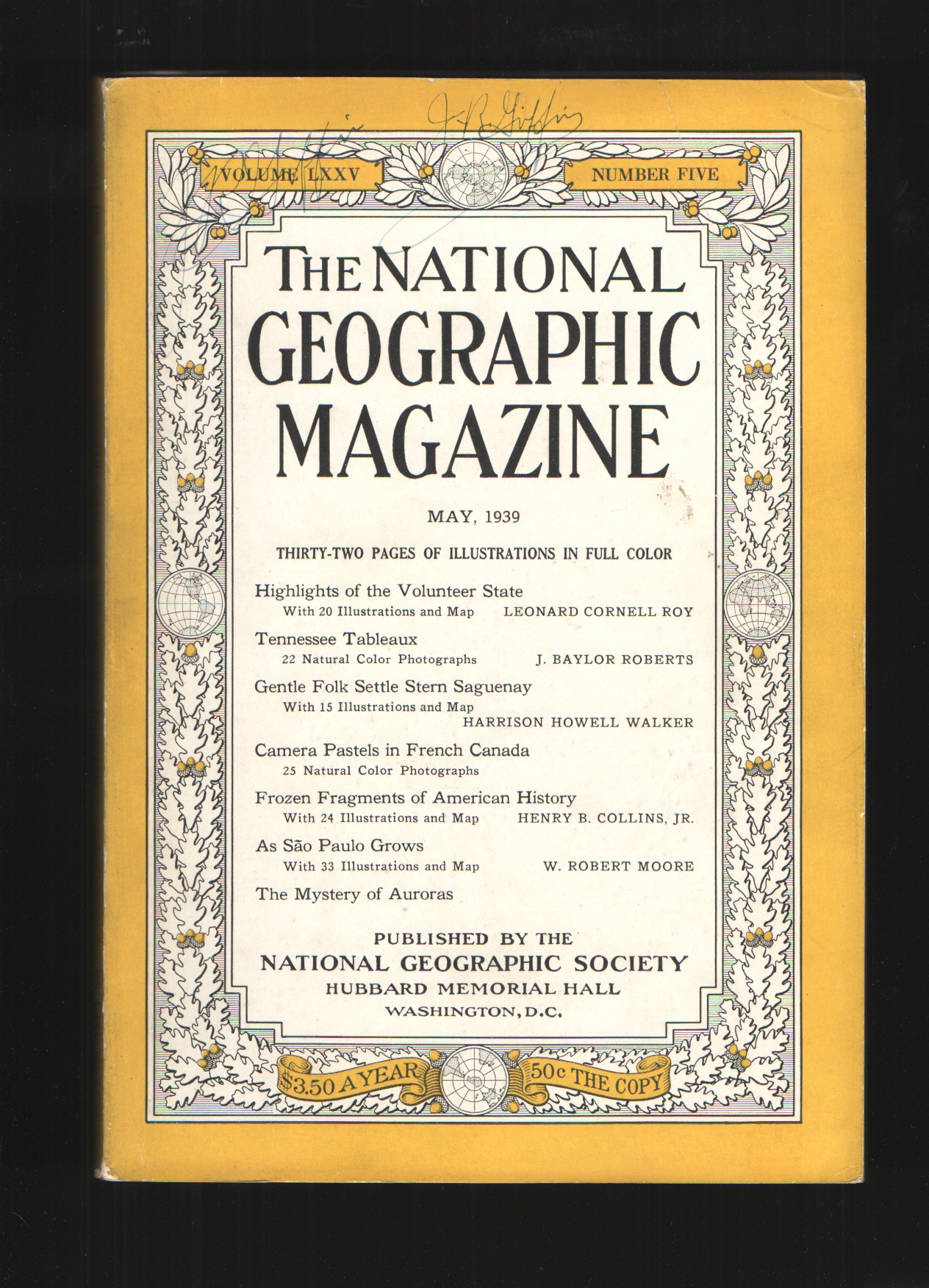 Image for THE NATIONAL GEOGRAPHIC MAGAZINE - MAY, 1939 - VOL. LXXV - NO. 5