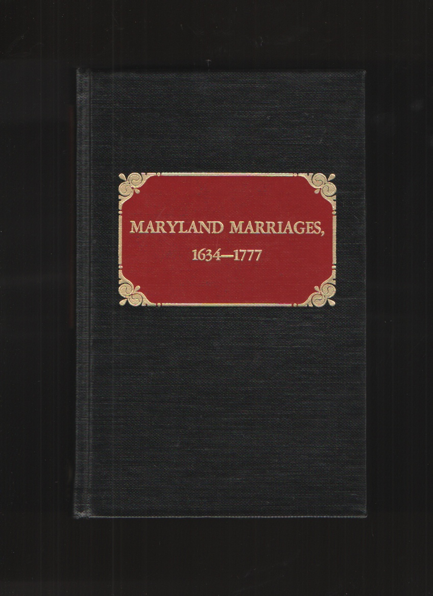 Image for Maryland Marriages 1634-1777