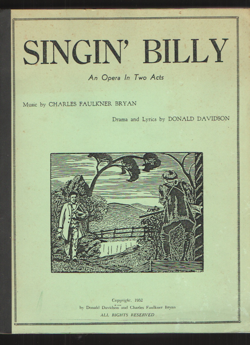 Image for SINGIN' BILLY  AN OPERA IN TWO ACTS