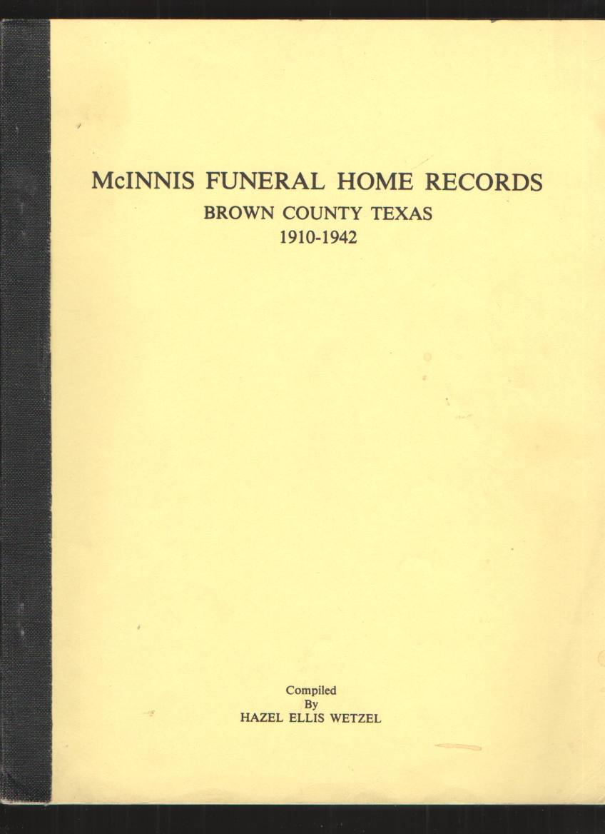 Image for McInnis Funeral Home records, Brown County, Texas