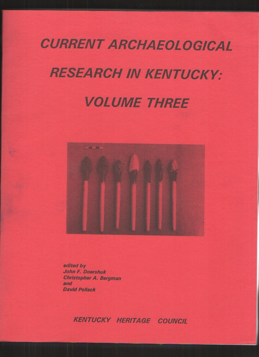 Image for Current Archaelolgical Research in Kentucky: Volume Three