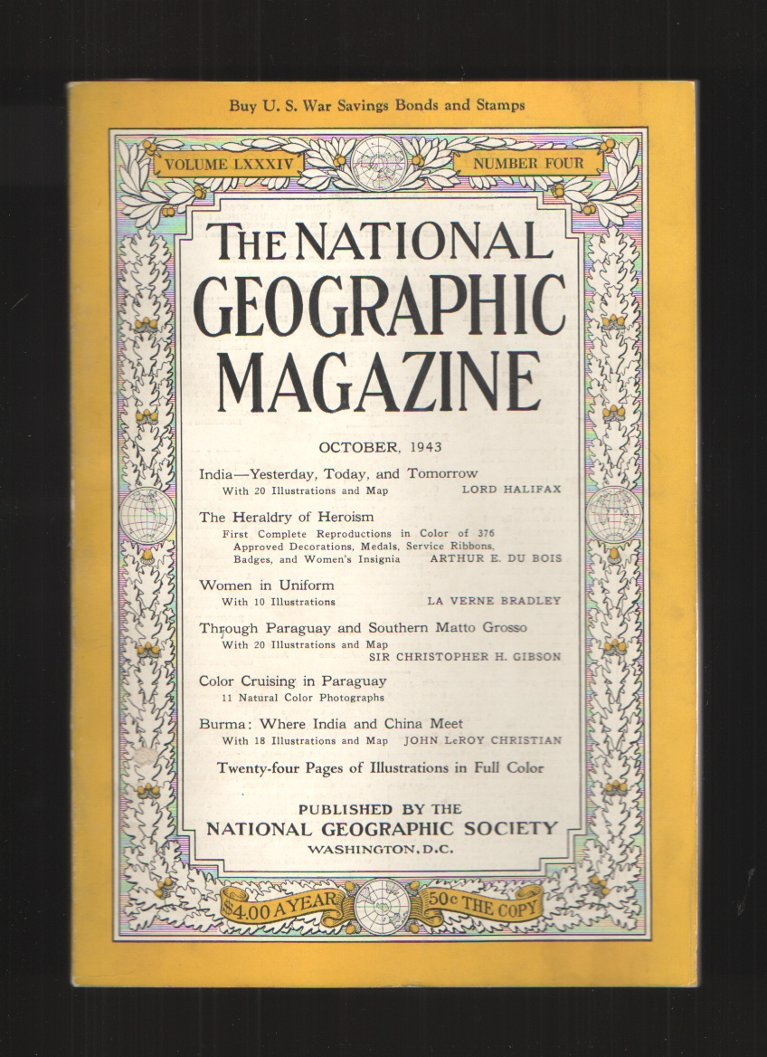 Image for National Geographic Magazine Volume LXXXIV Number Four October 1943