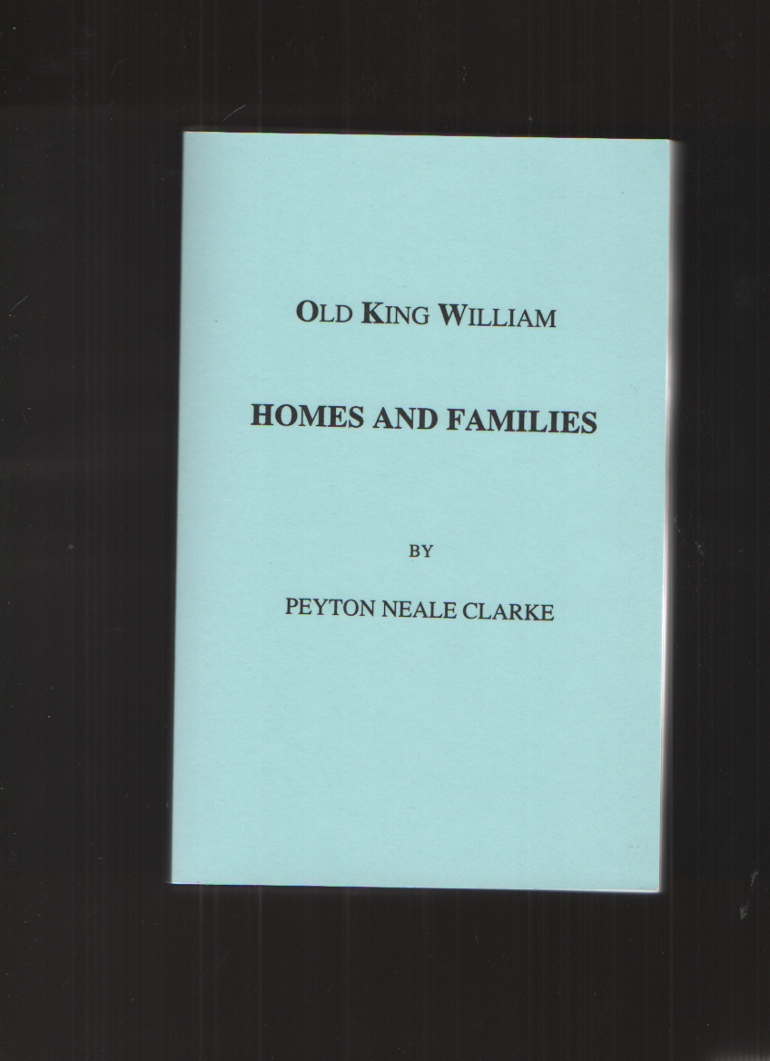 Image for Old King William Homes and Families