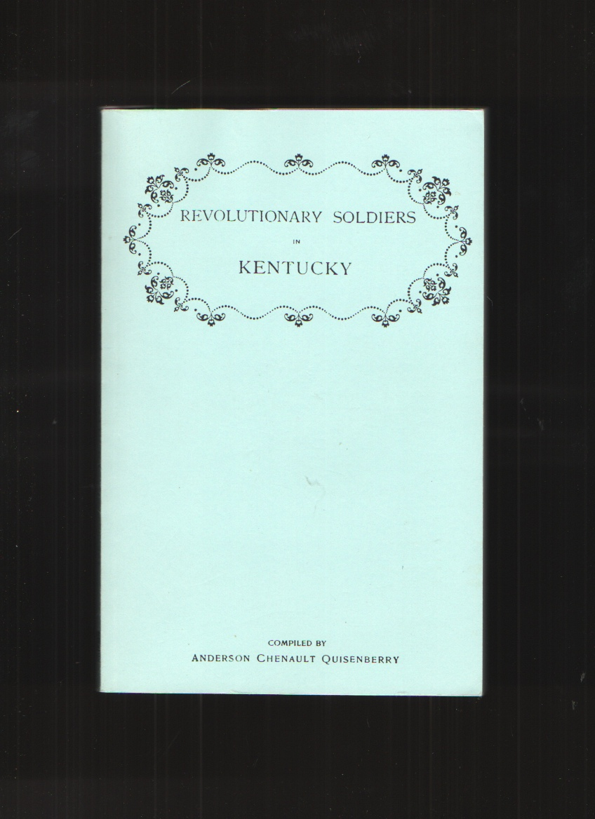 Image for Revolutionary Soldiers in Kentucky Also a Roster of the Virginia Navy