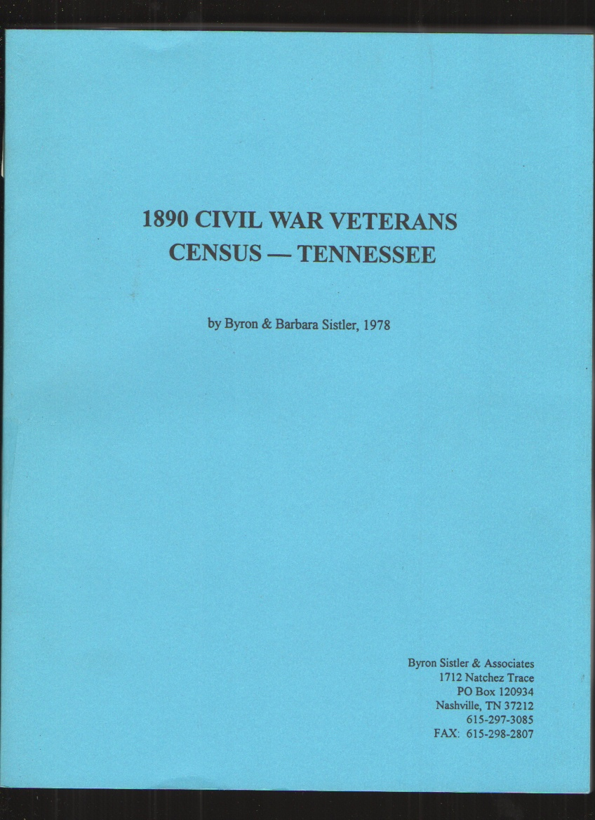 Image for 1890 Civil War Veterans Census - Tennessee