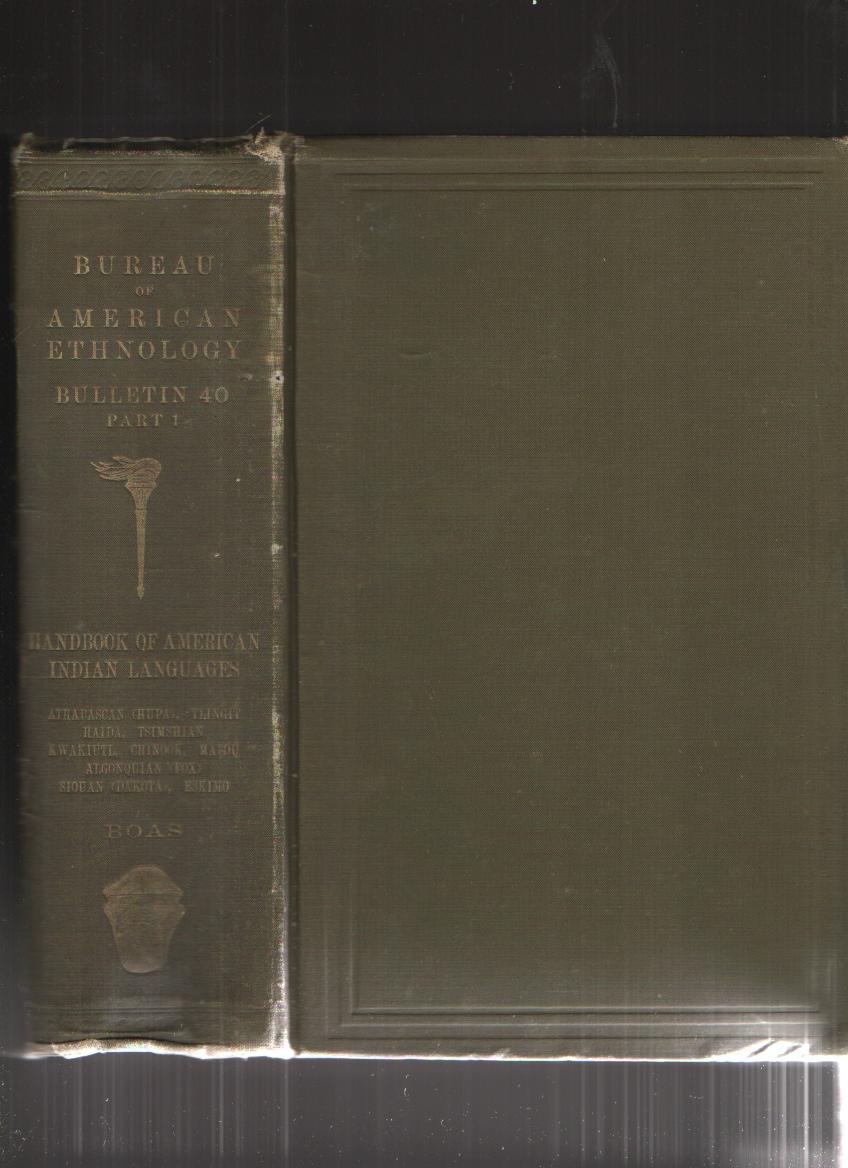Image for Handbook of American Indian Language Part 1, Smithsonian