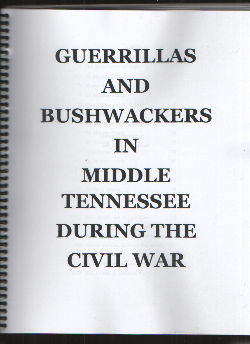 Image for Guerrillas and Bushwackers in Middle Tennessee During the Civil War