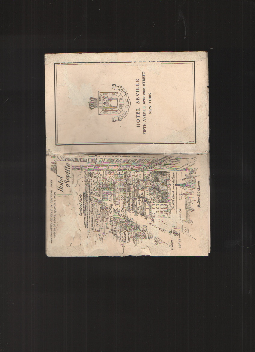 Image for Hotel Seville, Fifth Avenue and 29th Street in New York City - Tourist Brochure