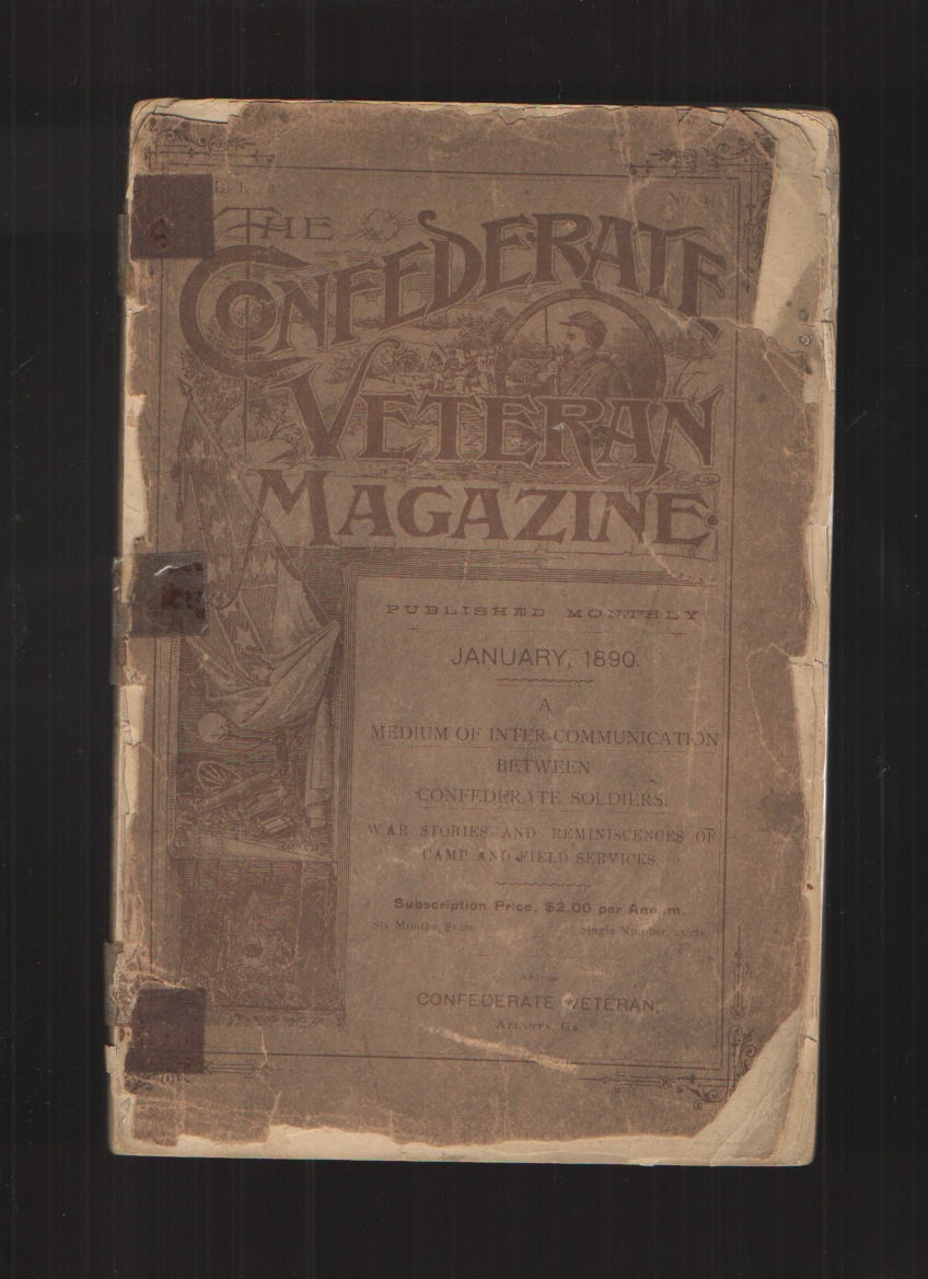 Image for The Confederate Veteran Magazine, Volume 1, No. 1, January 1890