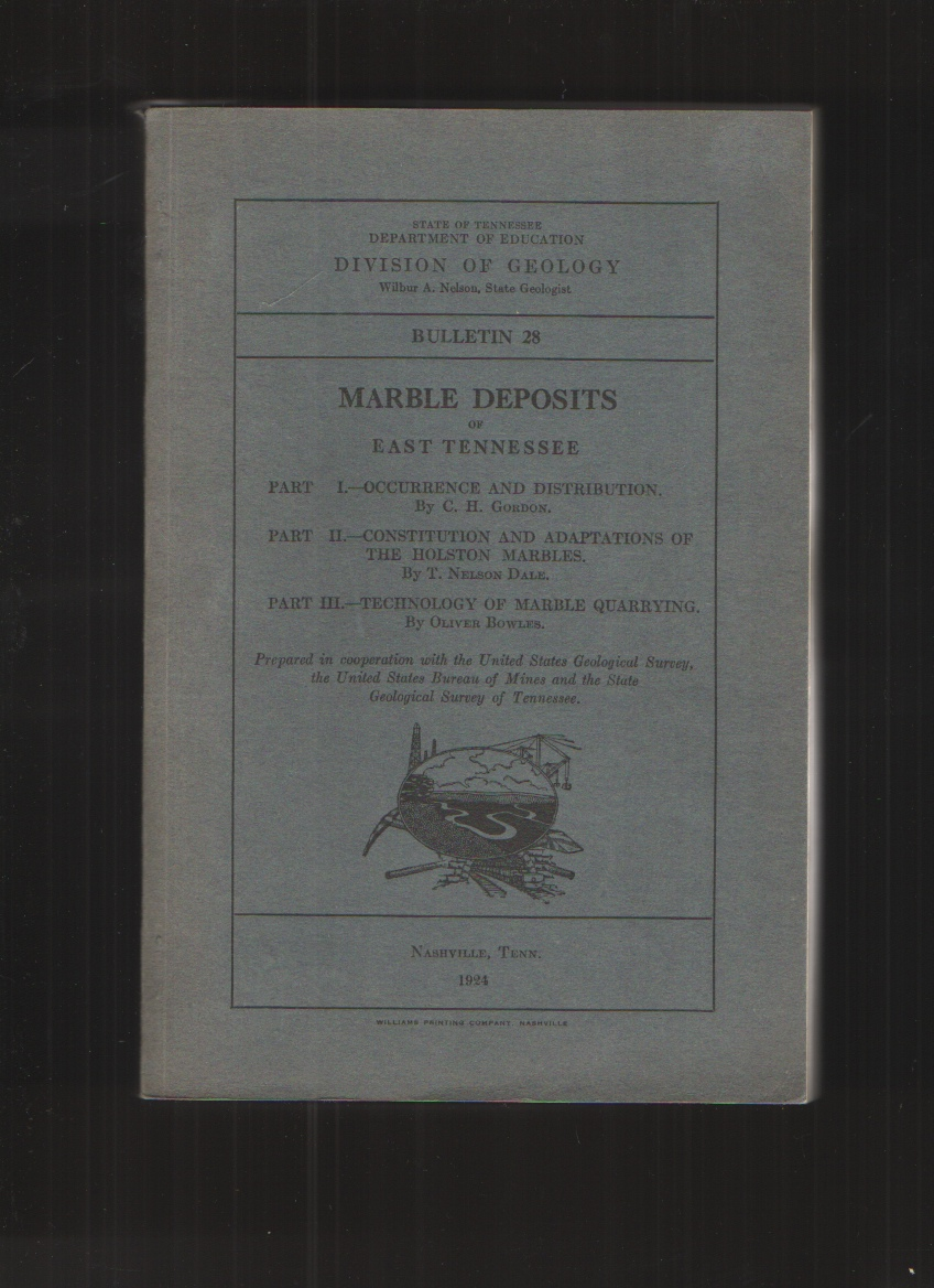Image for Marble Deposits of East Tennessee Bulletin 28, Div. of Geology