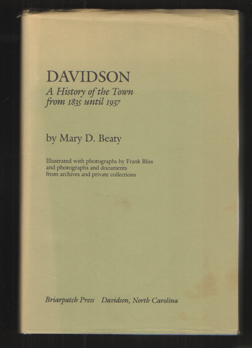 Image for Davidson A History of the Town from 1835 to 1937