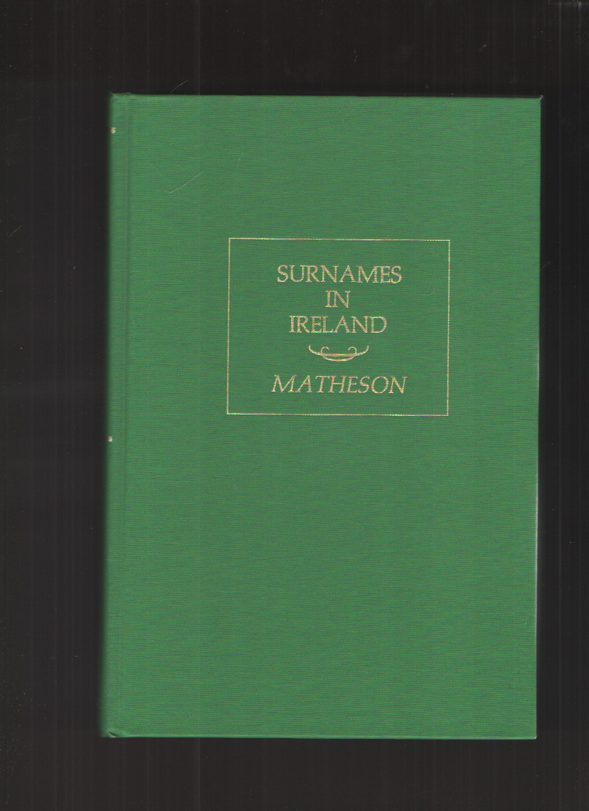 Image for Special Report on Surnames in Ireland [Together With] Varieties and Synonymes