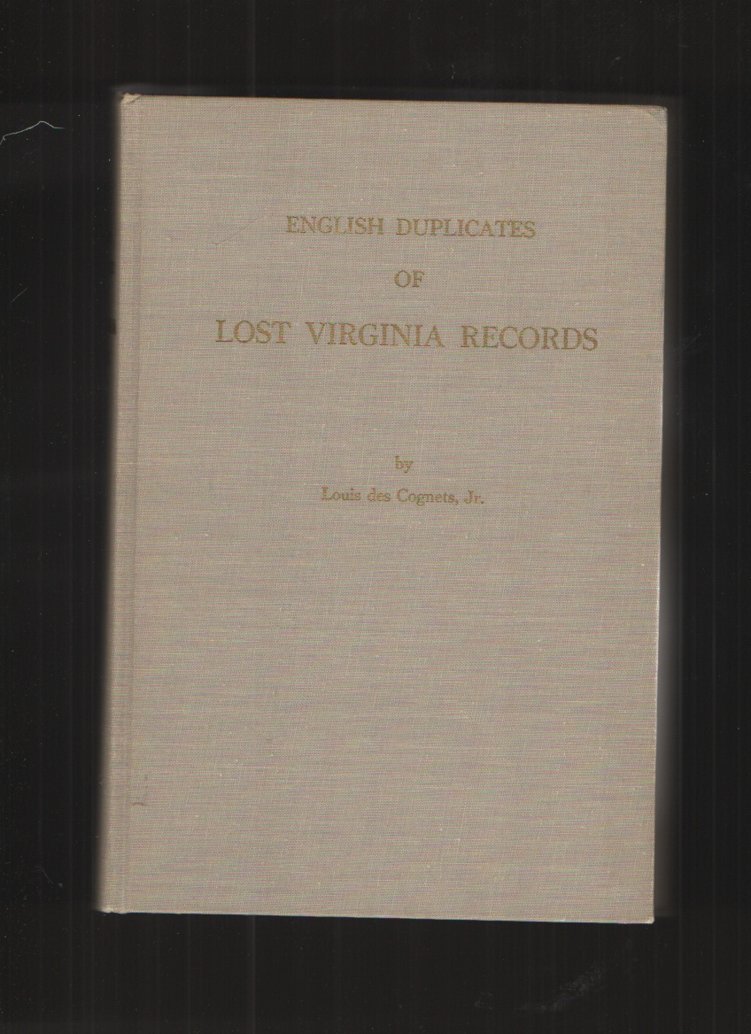 Image for English Duplicates of Lost Virginia Records
