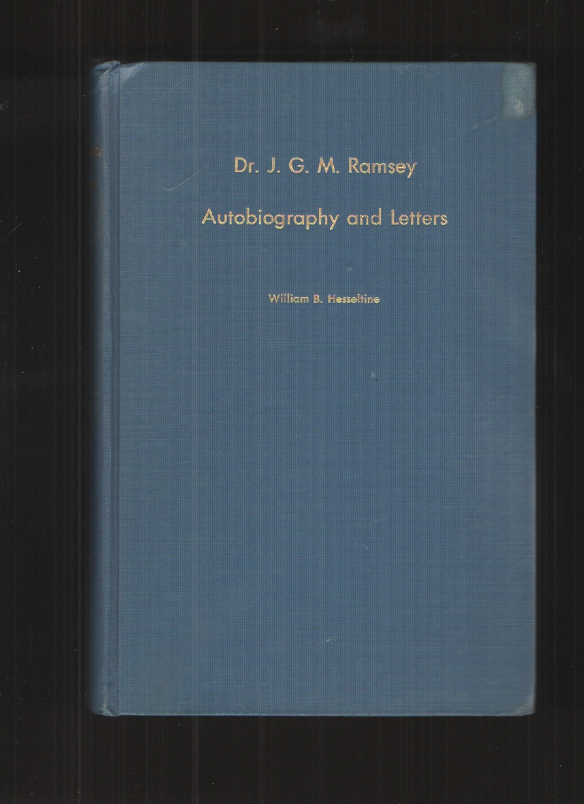 Image for Dr. J. G. M. Ramsey Autobiography and Letters