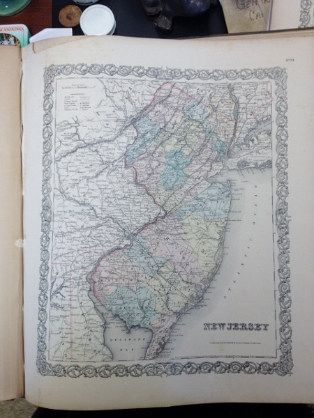 1855 Colton Map of the State of New Jersey, Colton, J. H.