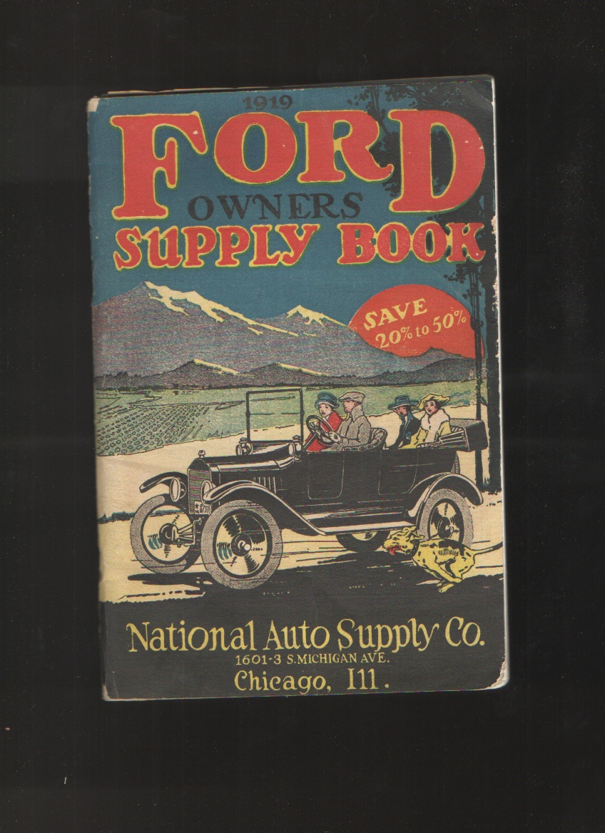 1919 Ford Owners Supply Book, National Auto Supply Co.